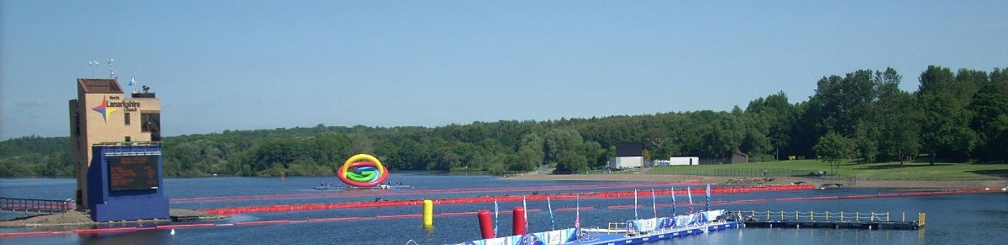 Strathclyde Loch set up for the 2014 Commonwealth Games