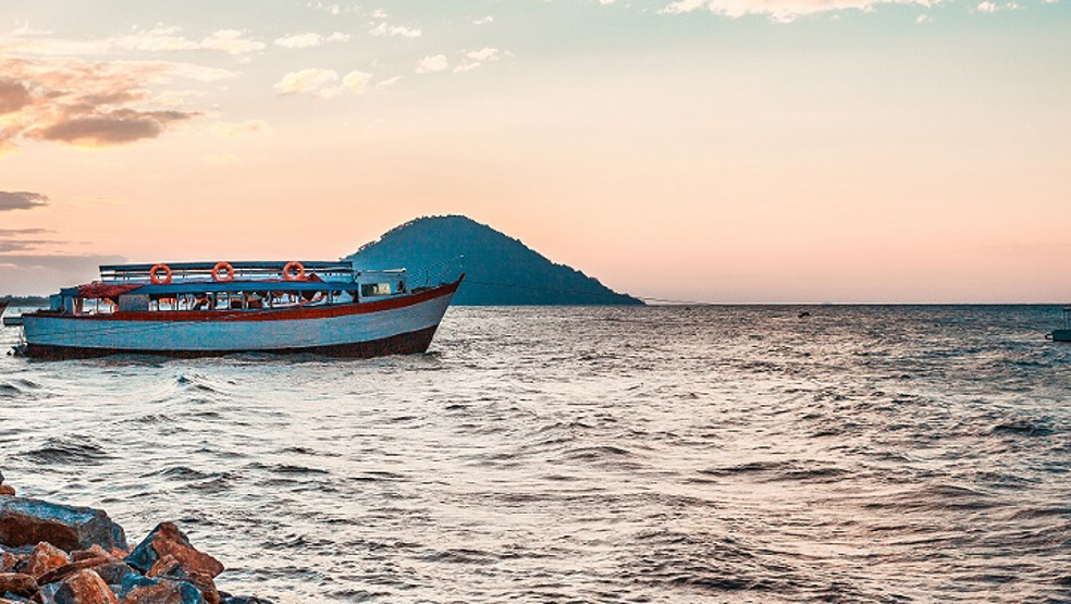Ship on the shore of Lake Malawi
